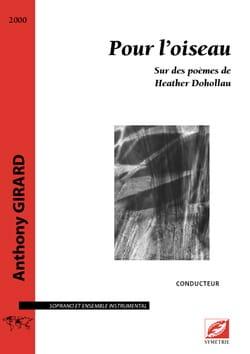 Pour l'Oiseau - Conducteur Anthony Girard Partition laflutedepan