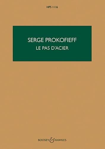 Le pas d'acier - Score - PROKOFIEV - Partition - laflutedepan.com