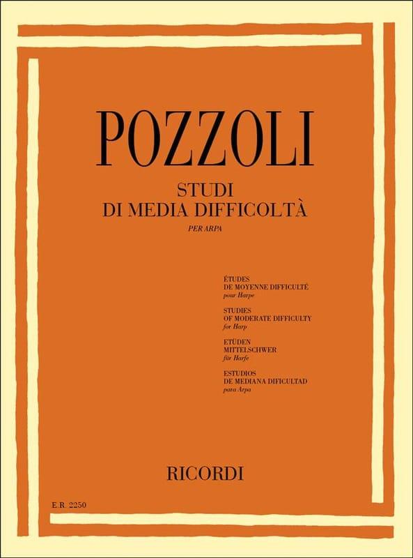 Etudes de Moyenne Difficulté - Ettore Pozzoli - laflutedepan.be