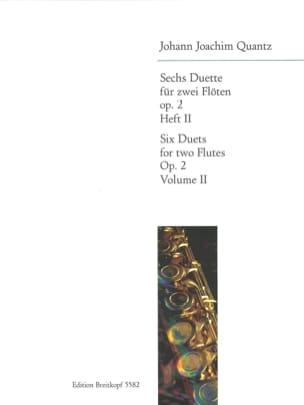 6 Duette op. 2 - Heft 2 - 2 Flöten - QUANTZ - laflutedepan.com
