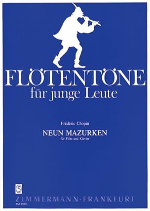 CHOPIN - 9 Mazurken - Flöte Klavier - Partition - di-arezzo.co.uk