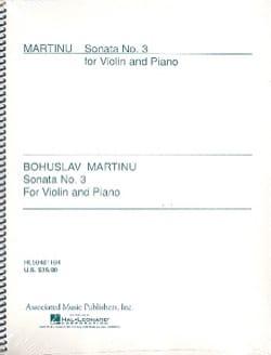Bohuslav Martinu - Sonata N ° 3 - Partition - di-arezzo.co.uk
