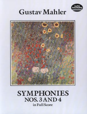 Symphonies N° 3 et 4 MAHLER Partition Grand format - laflutedepan