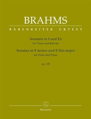 Sonates op. 120 - Alto et piano BRAHMS Partition Alto - laflutedepan