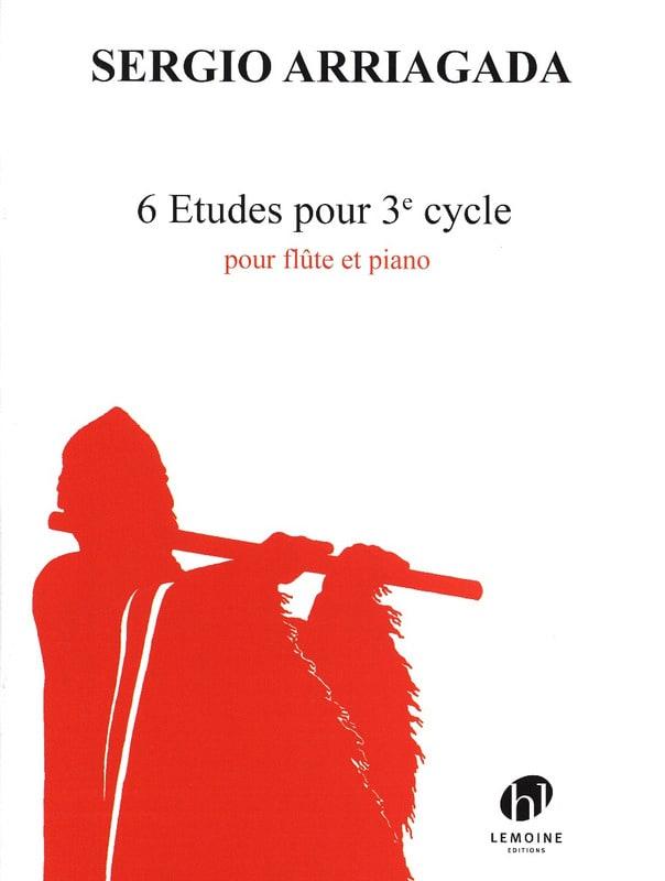 6 Etudes pour 3e Cycle - Sergio Arriagada - laflutedepan.com