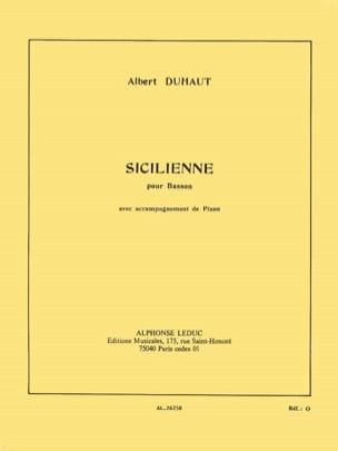 Sicilienne Albert Duhaut Partition Basson - laflutedepan