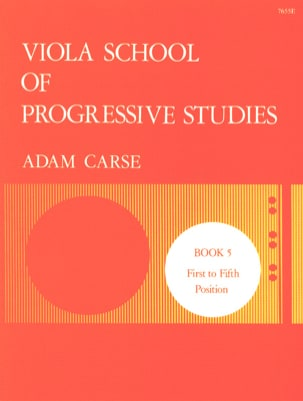 Viola School Of Progressive Studies Volume 5 Adam Carse laflutedepan