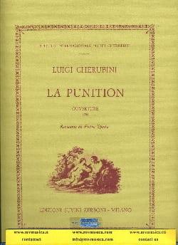 La Punition, Ouverture CHERUBINI Partition Grand format - laflutedepan