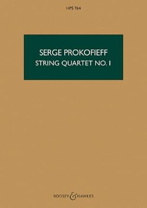 String quartet n° 1 op. 50 - Score PROKOFIEV Partition laflutedepan