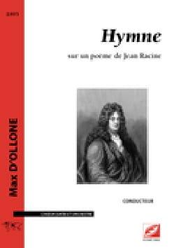 Hymne - Conducteur - Max D'Ollone - Partition - laflutedepan.com