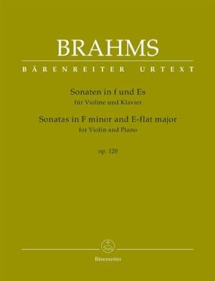Sonates op. 120 - Violon et piano BRAHMS Partition laflutedepan