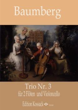 Trio n° 3 - 2 Flûtes et Violoncelle J. C. Baumberg laflutedepan