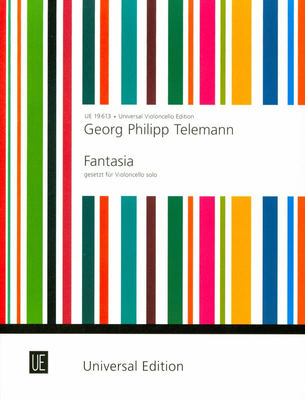 Fantasia - TELEMANN - Partition - Violoncelle - laflutedepan.com