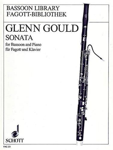 Sonata -basson Piano - Glenn Gould - Partition - laflutedepan.com