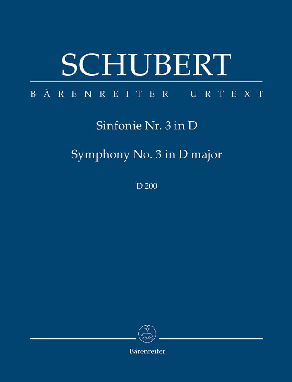 Symphonie N°3 - SCHUBERT - Partition - Petit format - laflutedepan.com