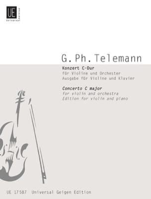 Konzert C-Dur für Violine TELEMANN Partition Violon - laflutedepan