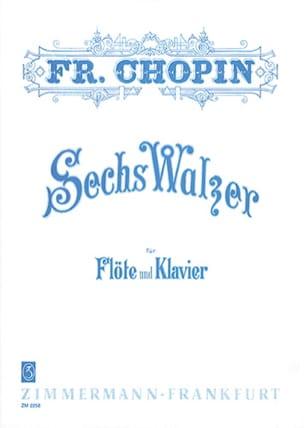 6 Valses CHOPIN Partition Flûte traversière - laflutedepan