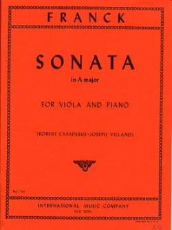 Sonata in A major - Viola FRANCK Partition Alto - laflutedepan