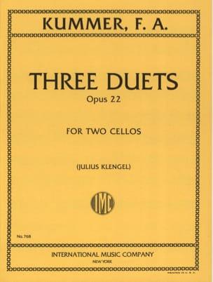 3 Duets op. 22 Friedrich-August Kummer Partition laflutedepan