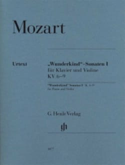 Sonates Wunderkind Volume 1 Pour Piano et Violon K. 6-9 laflutedepan