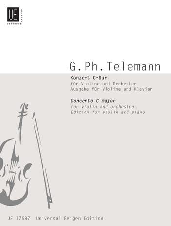 Konzert C-Dur für Violine - TELEMANN - Partition - laflutedepan.com