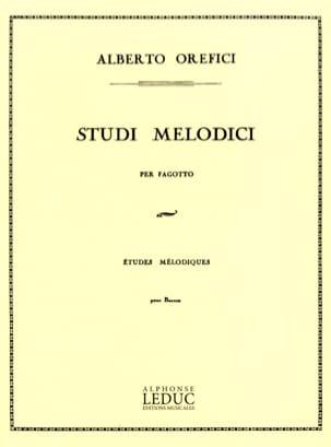 Studi Melodici Alberto Orefici Partition Basson - laflutedepan
