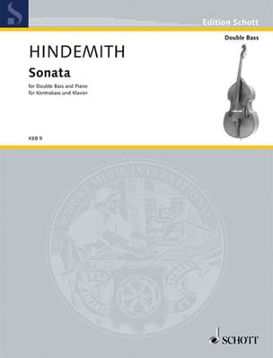 Sonata - Kontrabass Klavier HINDEMITH Partition laflutedepan