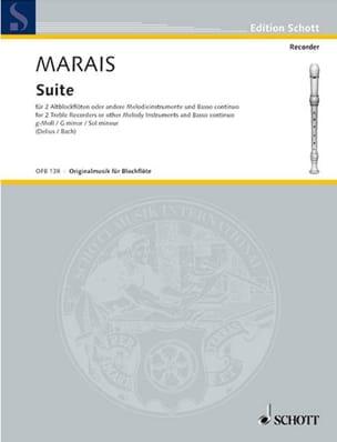 Suite g-moll -2 Altblockflöten Bc Marin Marais Partition laflutedepan