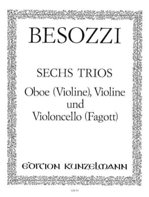 6 Trios -Oboe Violine Violine u. Violoncello Fagott -Stimmen laflutedepan