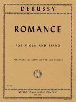 Romance DEBUSSY Partition Alto - laflutedepan