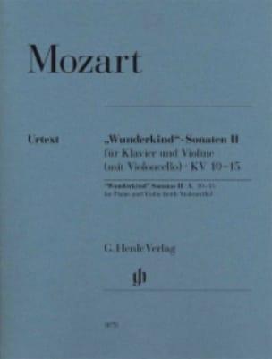 Sonates Wunderkind Volume 2 Pour Piano et Violon K. 10-15 - laflutedepan.com