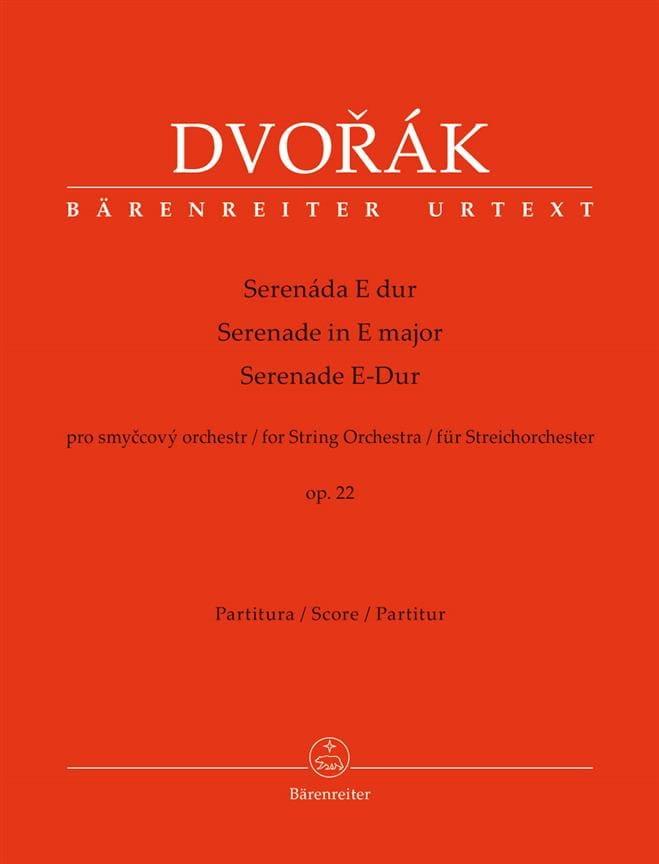Sérénade en Mi Maj., op. 22 - Conducteur - DVORAK - laflutedepan.com