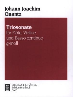 Triosonate g-moll -Flöte, VIoline u. Bc QUANTZ Partition laflutedepan