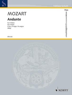 Andante F-Dur KV 616 - 4 Flöten MOZART Partition laflutedepan