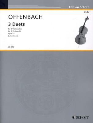 3 Duette op. 51 OFFENBACH Partition Violoncelle - laflutedepan