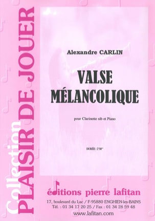 Alexandre Carlin - Melancholy waltz - Partition - di-arezzo.co.uk