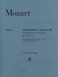 Sonates Wunderkind Volume 3 Pour Piano et Violon K. 26-31 laflutedepan