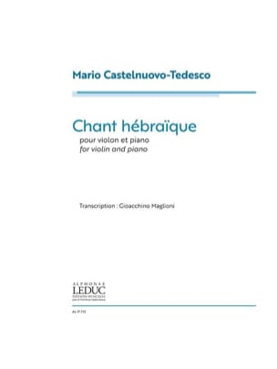 Chant Hébraïque - Violon et Piano - laflutedepan.com