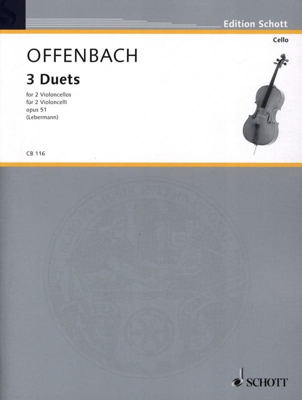 3 Duette op. 51 - OFFENBACH - Partition - laflutedepan.com