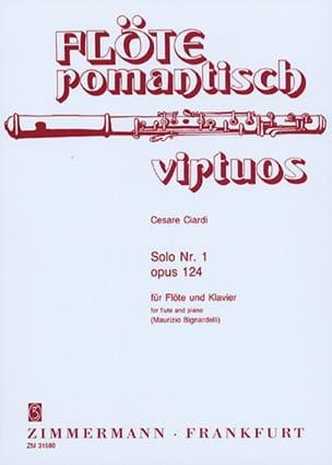 Solo n°1 op. 124 - Flöte Klavier Cesare Ciardi Partition laflutedepan