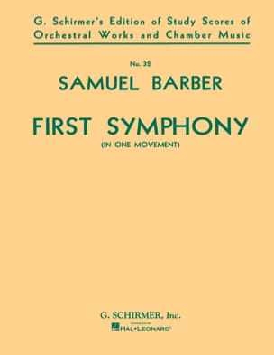 Symphony No 1 op 9 in one movement BARBER Partition laflutedepan