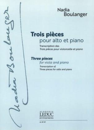 Trois Pièces - Alto et Piano Nadia Boulanger Partition laflutedepan
