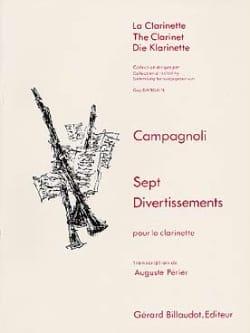 7 Divertissements - Clarinette Bartolomeo Campagnoli laflutedepan