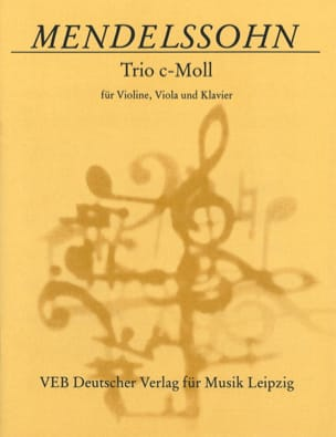 MENDELSSOHN - Trio c-moll ohne Op. - Partition - di-arezzo.co.uk