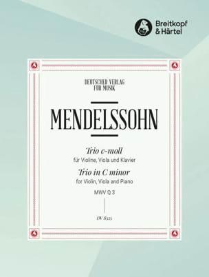 MENDELSSOHN - Trio c-moll ohne Op. - Partition - di-arezzo.co.uk