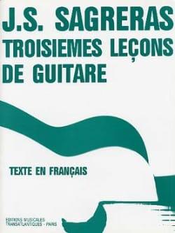 Troisièmes leçons de guitare Julio S. Sagreras Partition laflutedepan