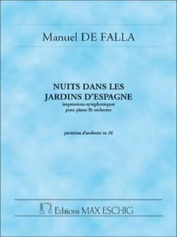 Nuits dans les jardins d'Espagne - Conducteur DE FALLA laflutedepan