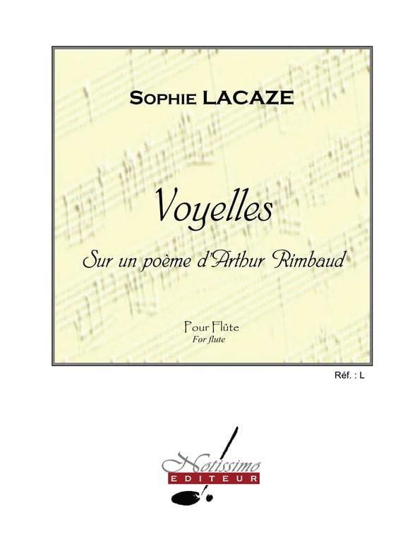 Voyelles - Sophie Lacaze - Partition - laflutedepan.com