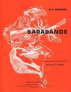 Sarabande HAENDEL Partition Guitare - laflutedepan