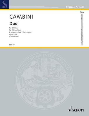 Duo e-moll op. 11 Nr. 4 - 2 Flöten Giuseppe Maria Cambini laflutedepan